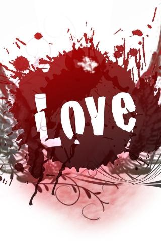 Hình I Love You dễ thương