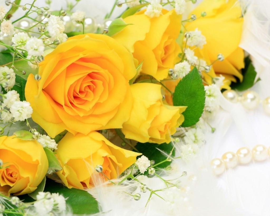 Giỏ hoa hồng vàng đẹp
