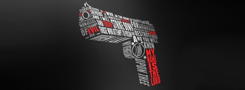 Ảnh bìa chất với khẩu súng cách điệu