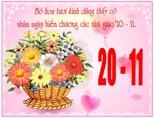 thiep hoa 20- 11 dep nhat