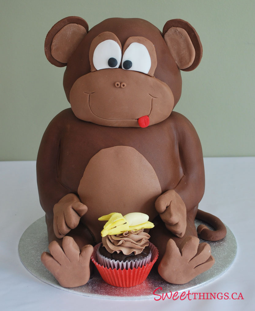 Bánh sinh nhật con khỉ 4 tuổi