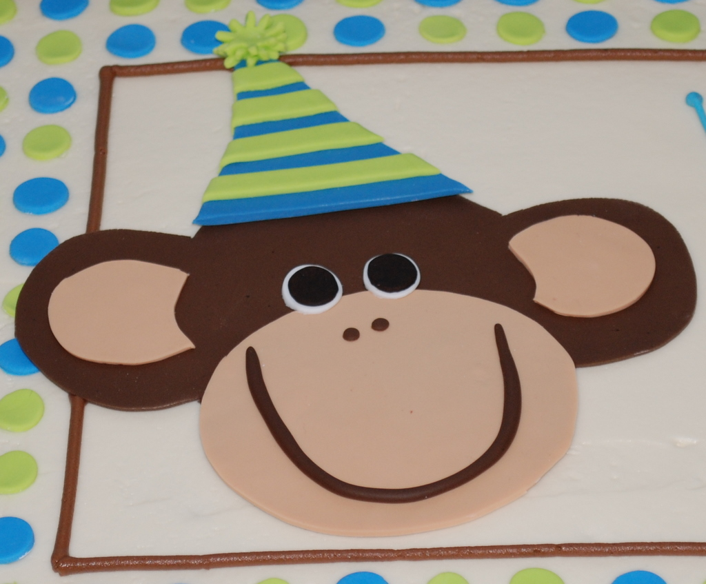 Bánh kem hình con khỉ nôi