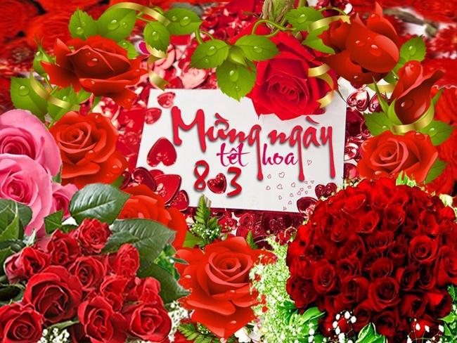 Chúc mừng ngày 8/3 với những bông hoa rực rỡ