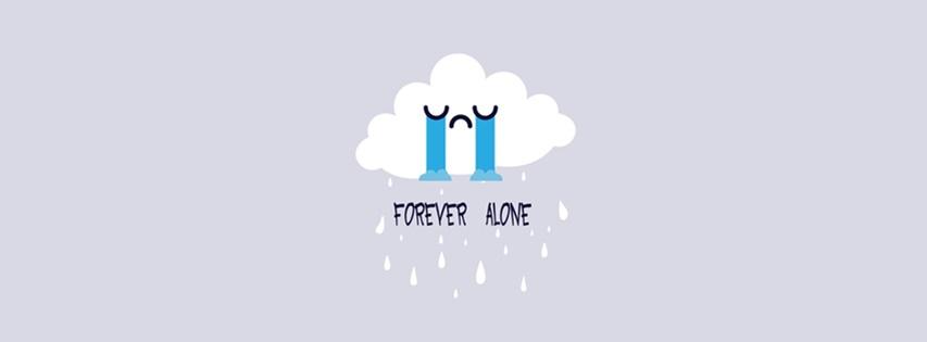 Ảnh bìa Forever Alone cách điệu, vừa buồn vừa dễ thương