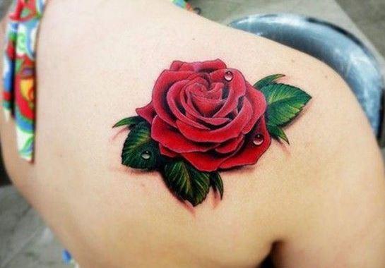 Hình xăm hoa hồng mini