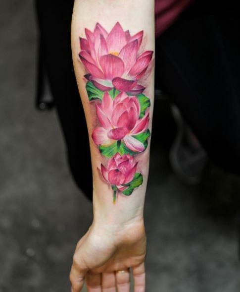 hinh xam hoa sen dep