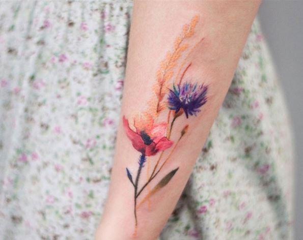 Hình xăm hoa nhỏ