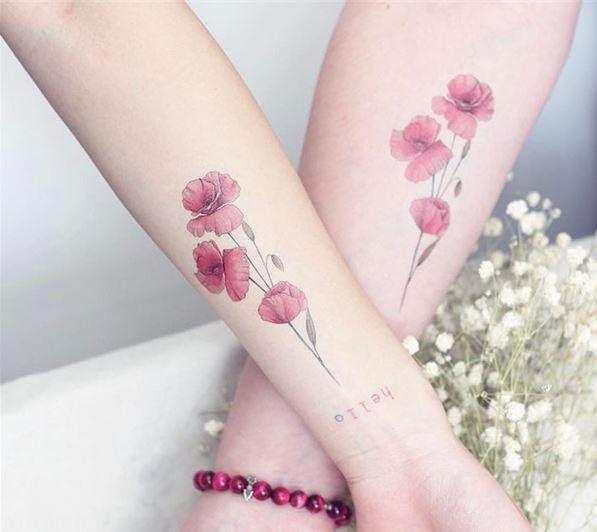 Hình xăm hoa đẹp cho nữ