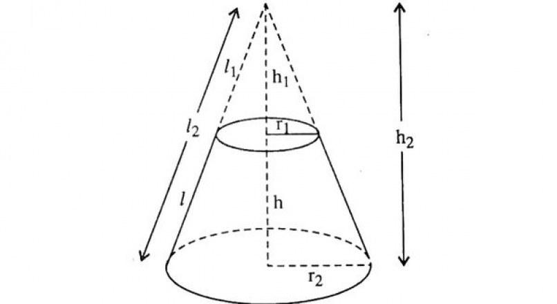 Công thức tính diện tích và thể tích hình nón cụt
