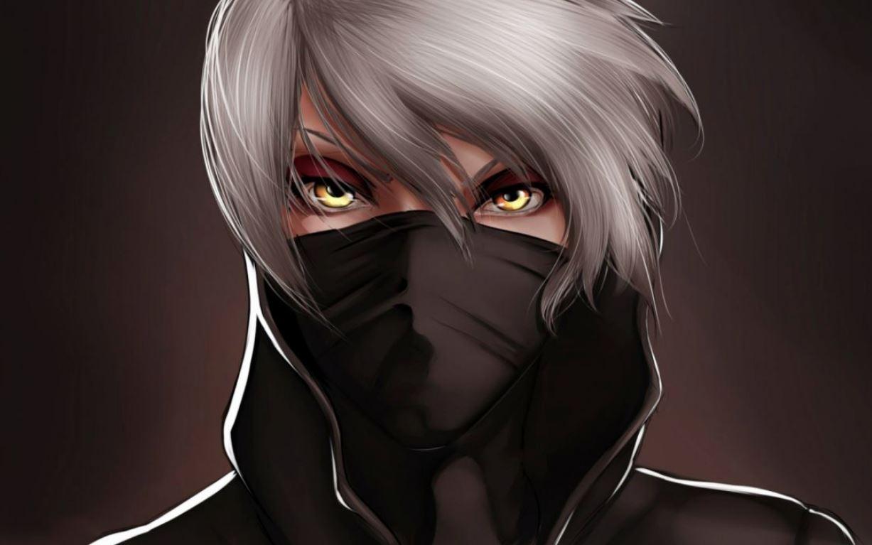 Anime boy cool ngầu với khăn bịt mặt