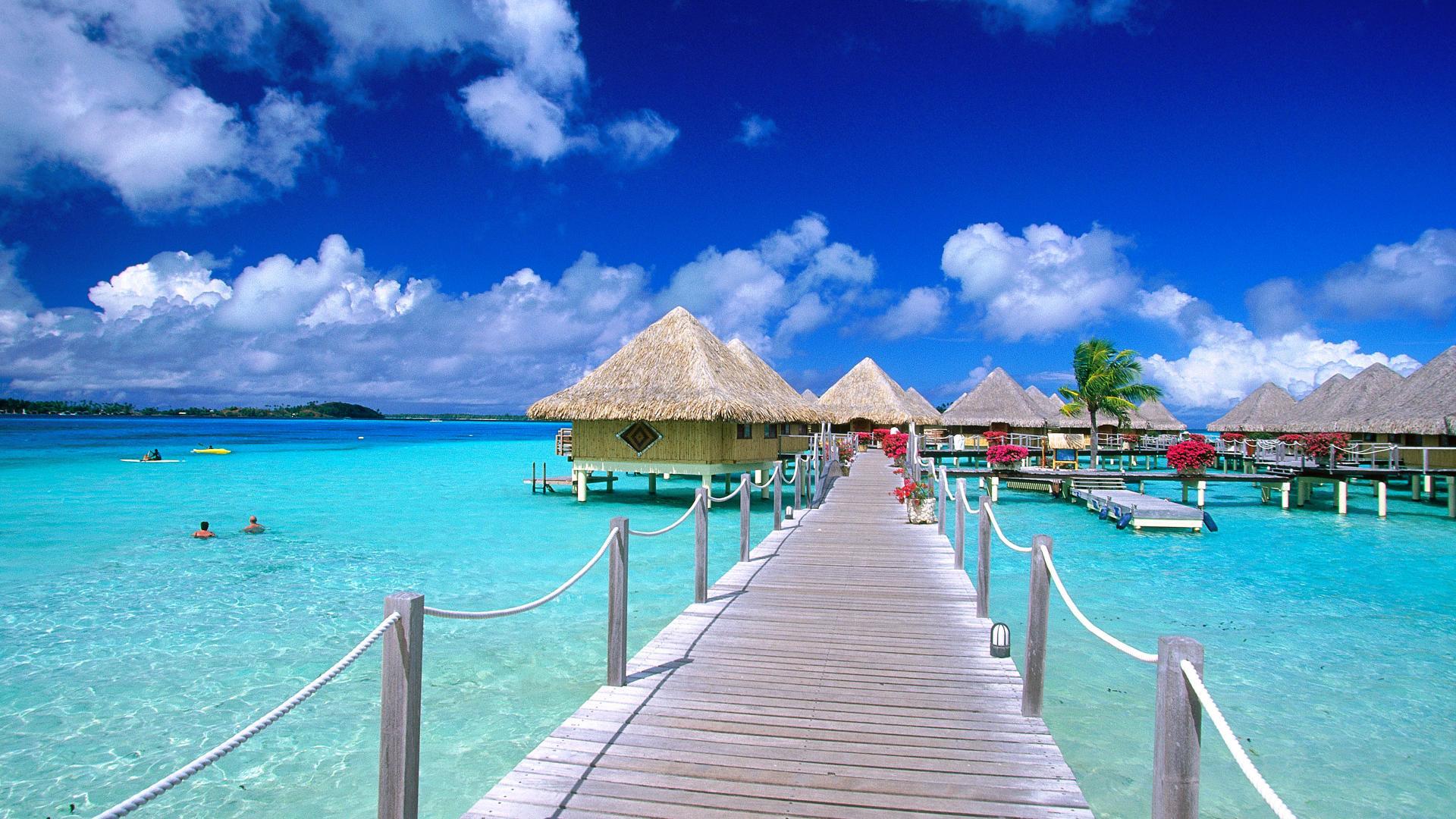 Bãi biển tại một resort