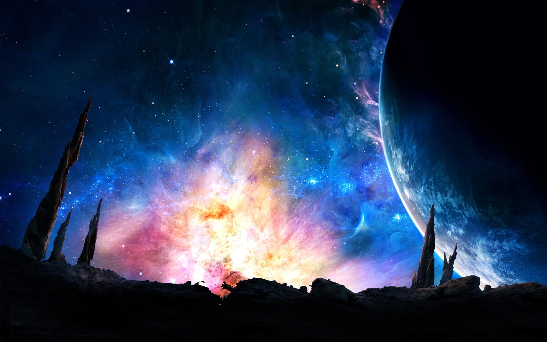 Lung linh rực rỡ của bầu trời ngoài vũ trụ