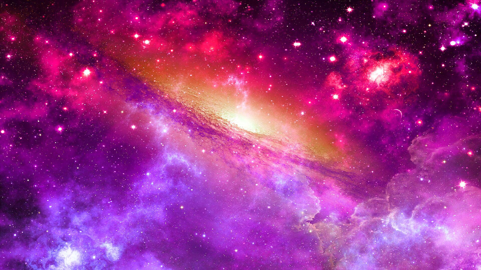 Dải thiên hà màu hồng đẹp mắt