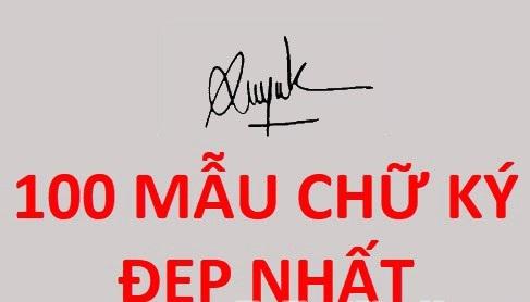 Mẫu chữ ký đẹp – Chia sẻ miễn phí 1000+ mẫu chữ ký online đẹp nhất