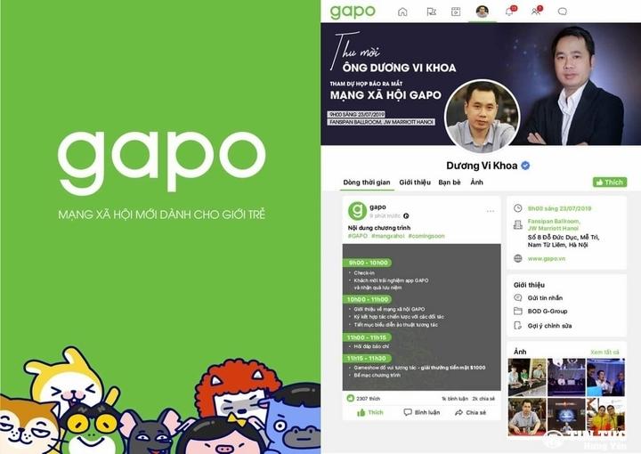 Mạng xã hội GAPO là gì