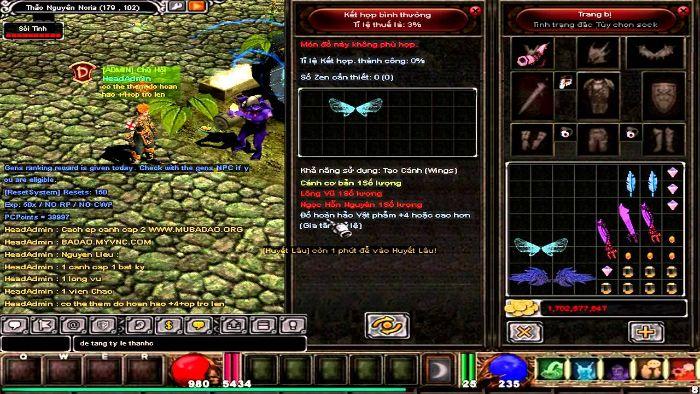 Hướng dẫn cách ép cánh cấp 2 trong game MU online