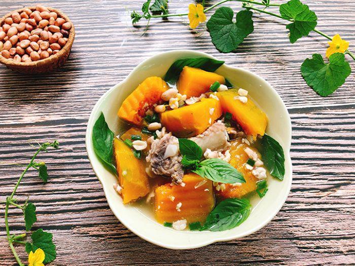 Công dụng, tác hại và cách nấu canh bí đỏ đậu phộng chay