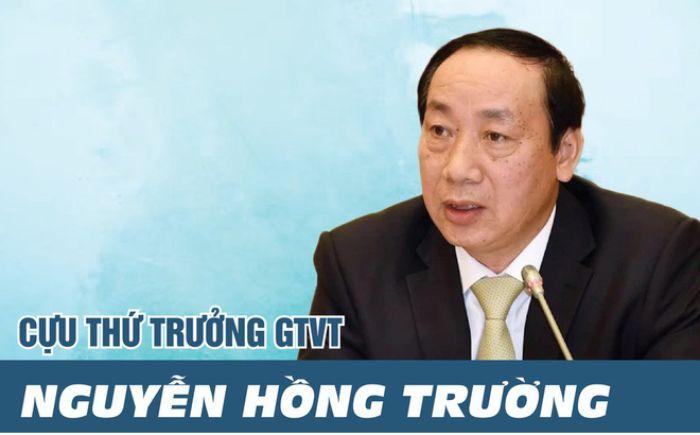 Thứ trưởng bộ GTVT Nguyễn Hồng Trường bị bắt
