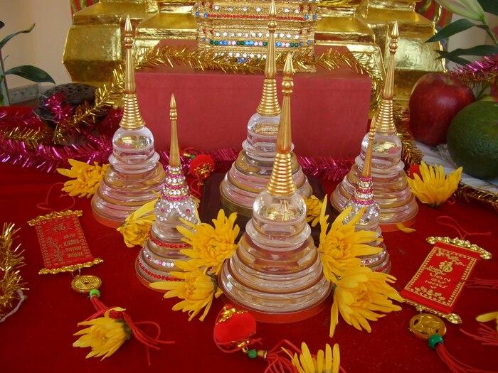 Xá Lợi đặc biệt linh thiêng, được thờ cúng cẩn trọng trong Phật Giáo