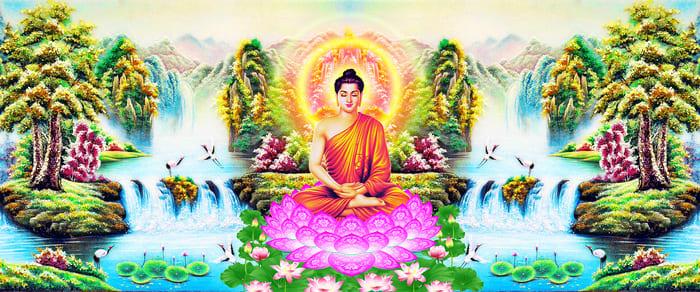 Hình ảnh Đức Phật ngồi trên đài sen
