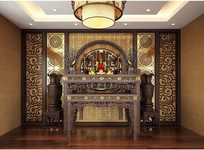 Những mẫu bàn thờ cổ điển thường chiếm rất nhiều diện tích, không gian