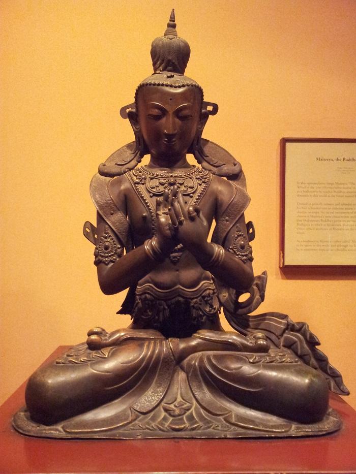 Một bức tượng của Phật Di Lặc