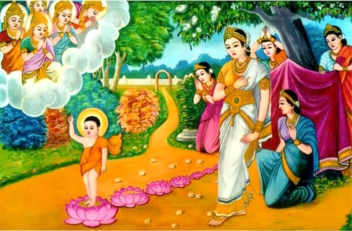 Hình ảnh Đức Phật Đản sanh