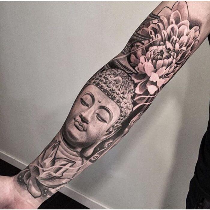 Hình xăm Phật cho cánh tay