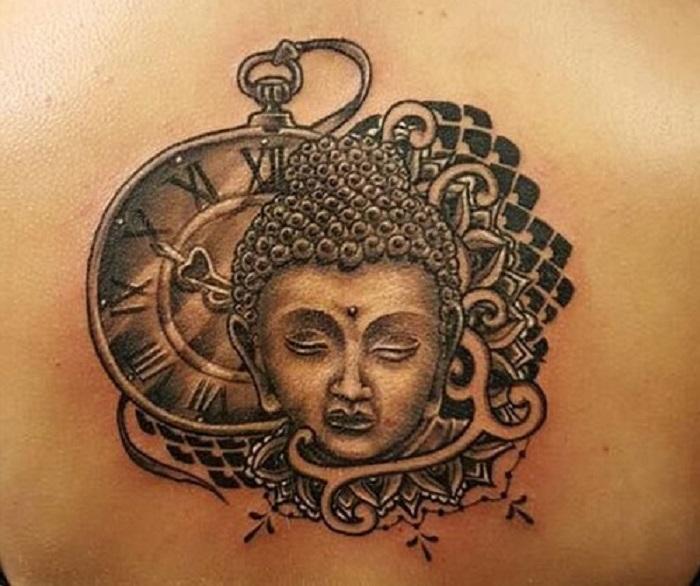 Hình xăm Phật sau gáy
