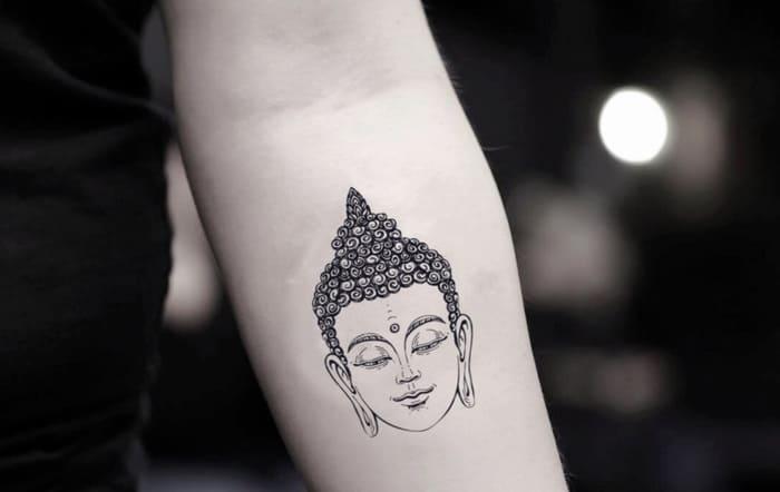 Hình xăm Phật cỡ nhỏ