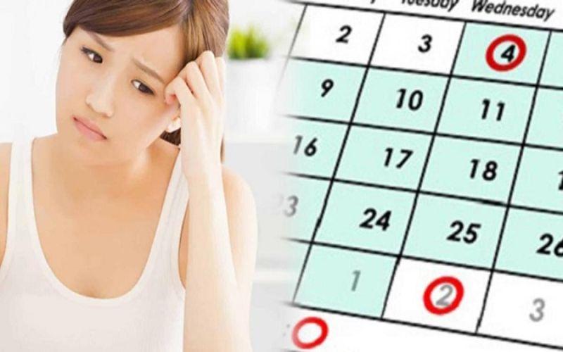 Hình 1: Chậm kinh là dấu hiệu thai chưa vào tử cung