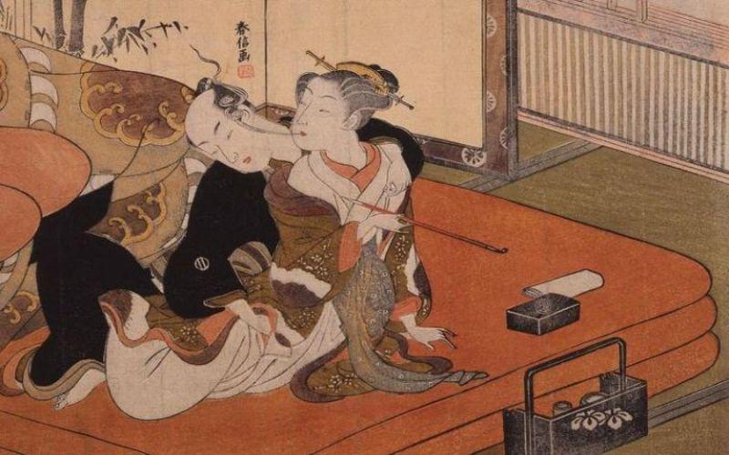 Hình 1: Xuân Cung Họa là những bức tranh miêu tả về cảnh ân ái của nam nữ