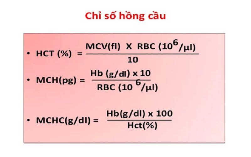 Hình 3: Công thức tính chỉ số Hematocrit