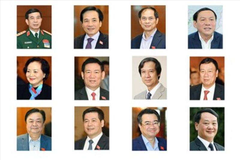 Danh sách bộ trưởng năm 2021 của Việt Nam gồm những ai?