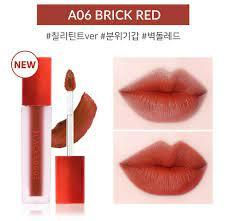 Son Black Rouge Brick Red A06 – Đỏ Cam Cháy